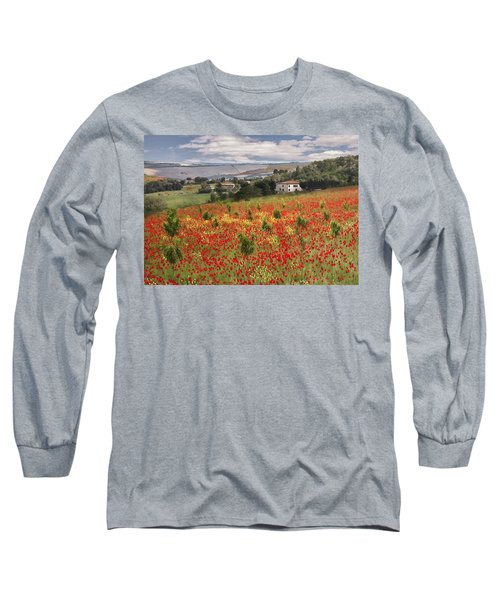 Italian Poppy Field Long Sleeve T-Shirt