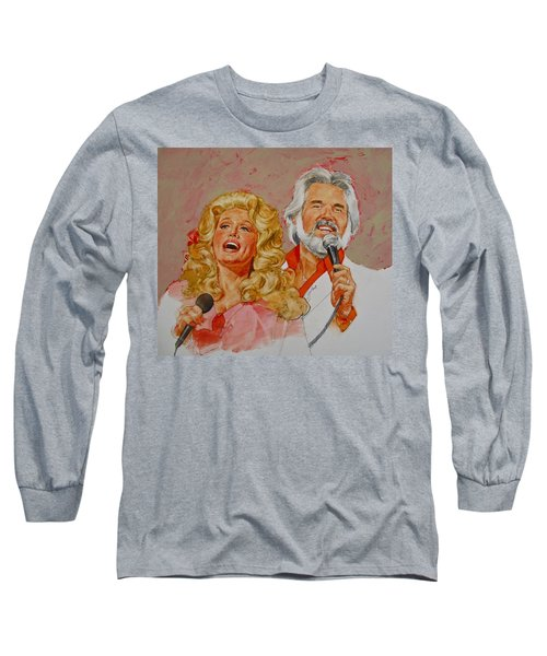 Its Country - 8  Dolly Parton Kenny Rogers Long Sleeve T-Shirt