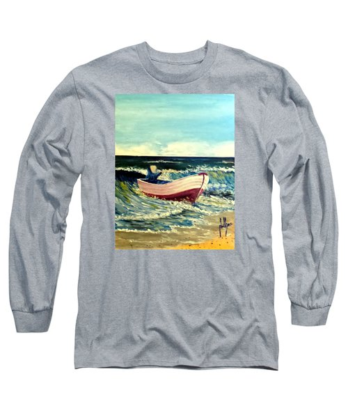 Long Sleeve T-Shirt featuring the painting It's Going To Pole And Turtle by Jim Phillips