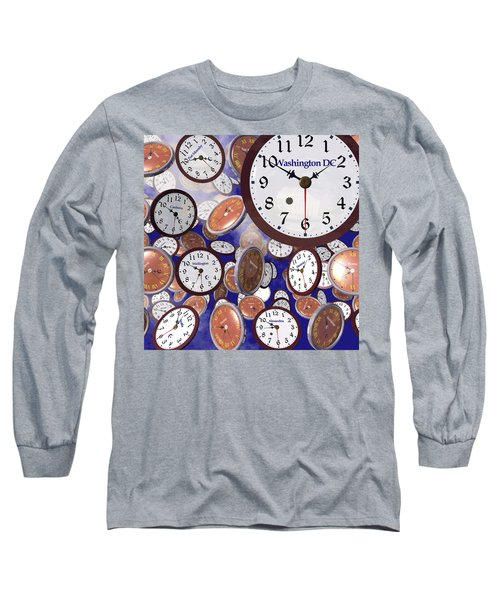 It's Raining Clocks - Washington D. C. Long Sleeve T-Shirt