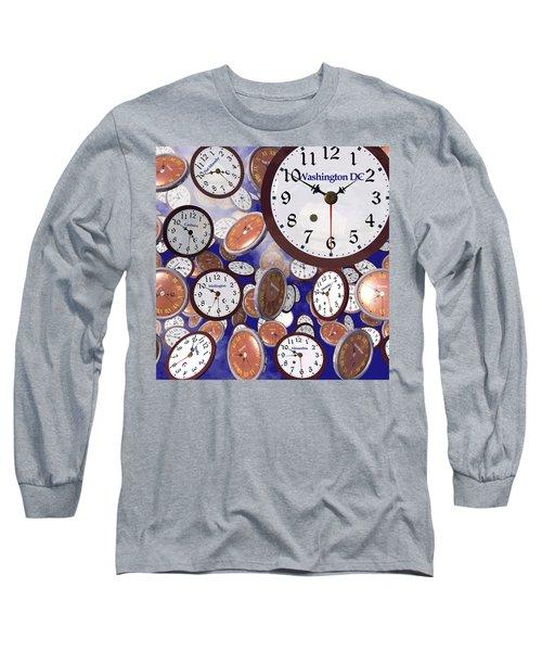 It's Raining Clocks - Washington D. C. Long Sleeve T-Shirt