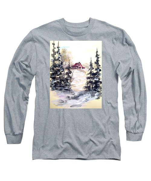 Long Sleeve T-Shirt featuring the painting It's Winter - 2 by Dorothy Maier