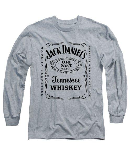 Jack Daniels In Black Long Sleeve T-Shirt by Ericamaxine Price