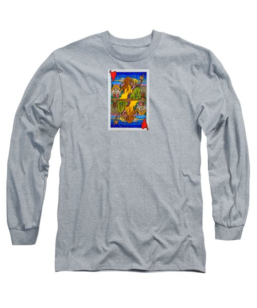 Jack Of Hearts Long Sleeve T-Shirt by Matt Konar