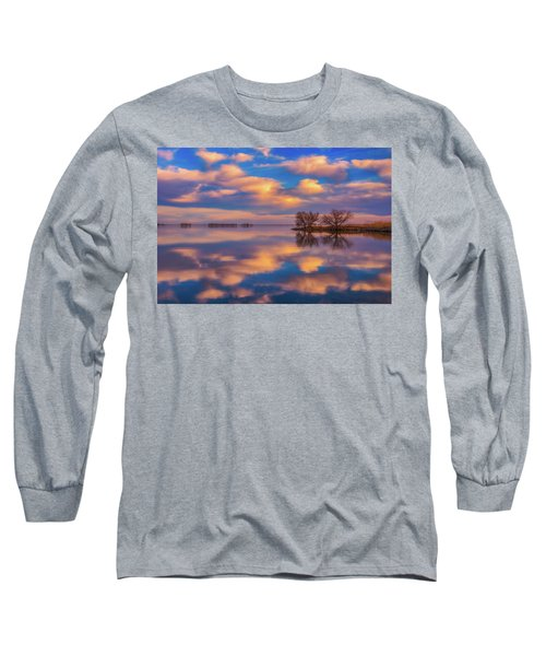 Long Sleeve T-Shirt featuring the photograph Jackson Lake Sunset by Darren White