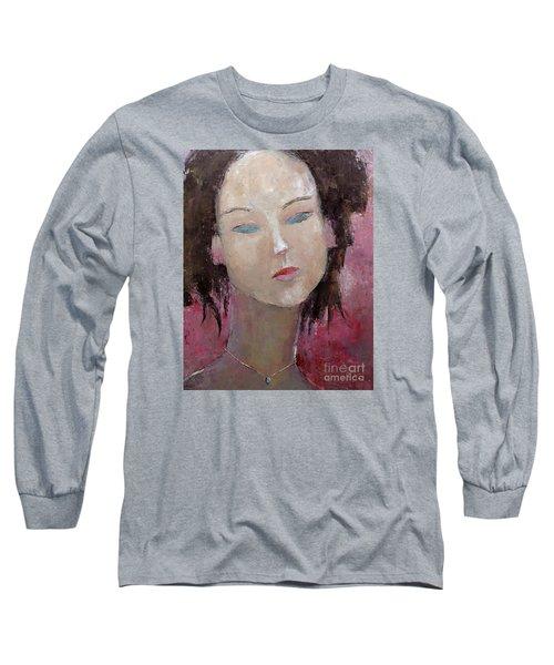 Jade Amethyst Long Sleeve T-Shirt by Becky Kim