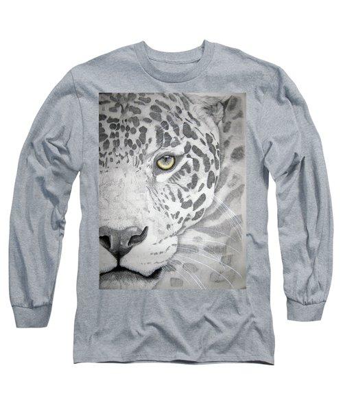 Long Sleeve T-Shirt featuring the drawing Jaguar by Mayhem Mediums