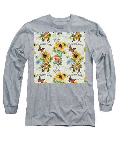 Long Sleeve T-Shirt featuring the painting Jaime Mon Jardin-jp3989 by Jean Plout