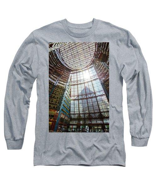 Long Sleeve T-Shirt featuring the photograph James R Thompson Center Interior II Chicago by Deborah Smolinske