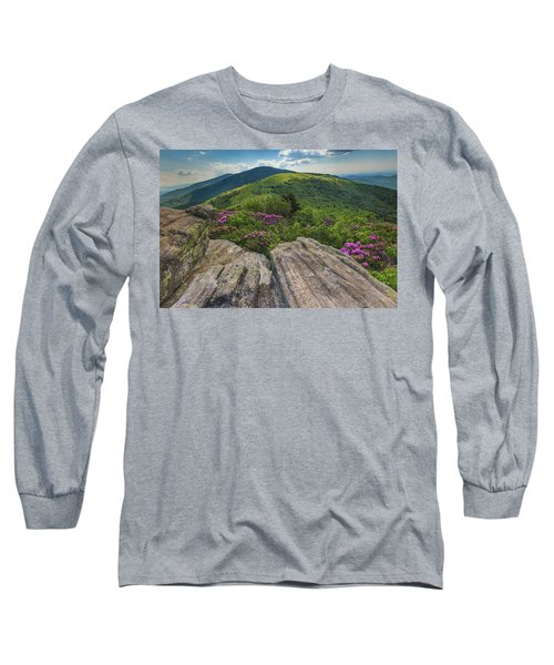 Jane Bald Rhododendrons Long Sleeve T-Shirt