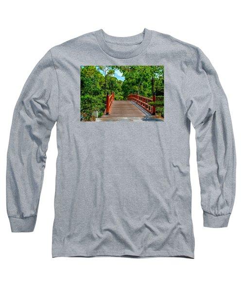 Japanese Bridge  Long Sleeve T-Shirt by Louis Ferreira