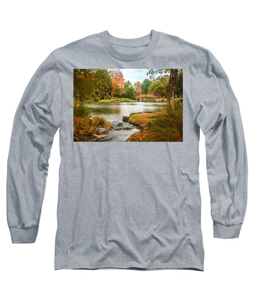 Japanese Garden Bridge Fall Long Sleeve T-Shirt