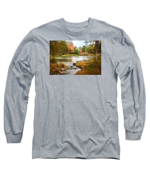 Japanese Garden Bridge Fall Long Sleeve T-Shirt