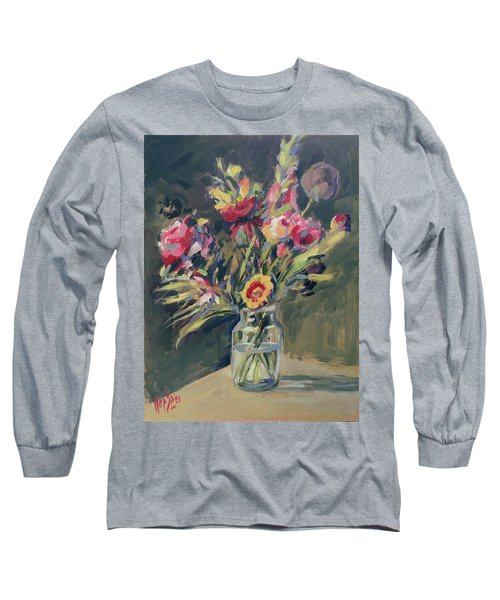 Jar Vase With Flowers Long Sleeve T-Shirt