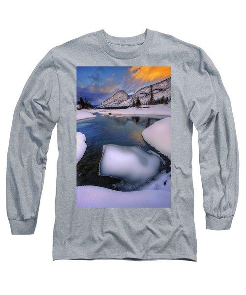 Jasper In The Winter Long Sleeve T-Shirt by Dan Jurak