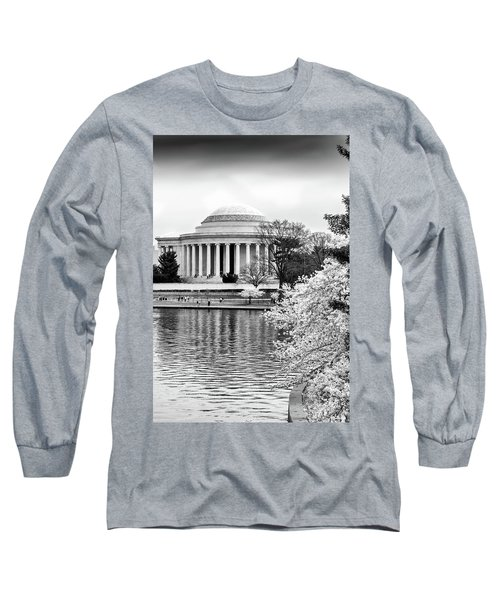 Jefferson Memorial Cherry Blosum Time Long Sleeve T-Shirt