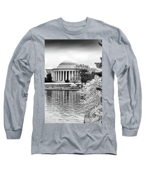 Jefferson Memorial Cherry Blosum Time Long Sleeve T-Shirt