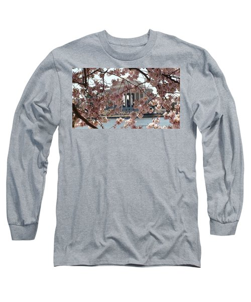 Jefferson Through The Cherry Blossoms Long Sleeve T-Shirt