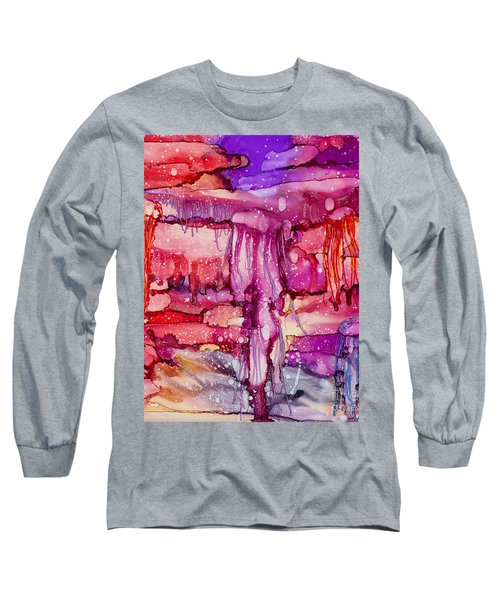 Jellyfish Long Sleeve T-Shirt by Alene Sirott-Cope