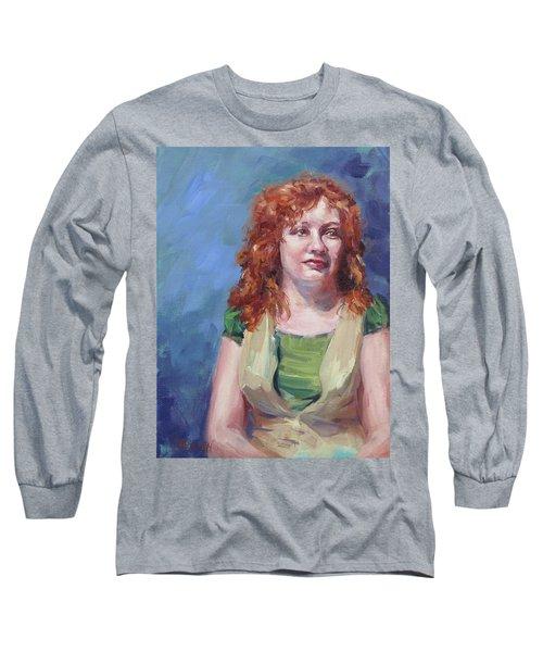 Jennifer Long Sleeve T-Shirt by Karen Ilari