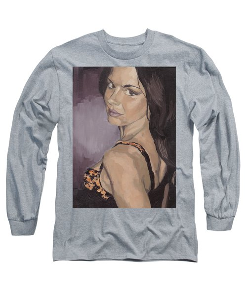 Jenny In Black Long Sleeve T-Shirt