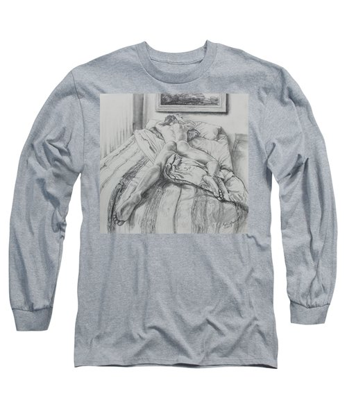 Jeremy On The Bed Long Sleeve T-Shirt