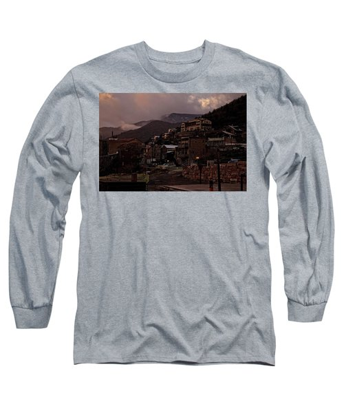 Long Sleeve T-Shirt featuring the photograph Jerome On The Edge Of Sunrise by Ron Chilston