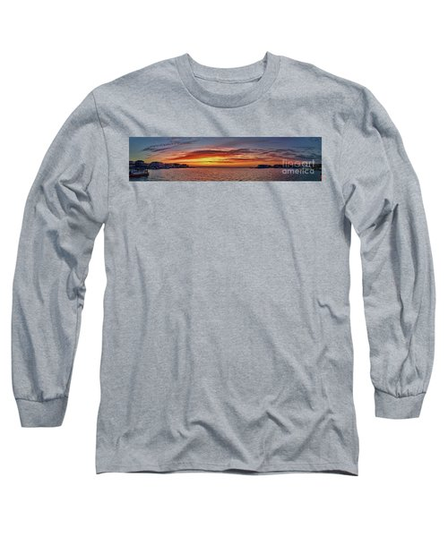 Jersey Shore Panorama Ship Bottom Long Sleeve T-Shirt