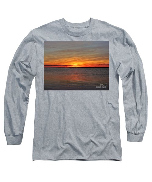 Jersey Shore Sunset Hdr Long Sleeve T-Shirt