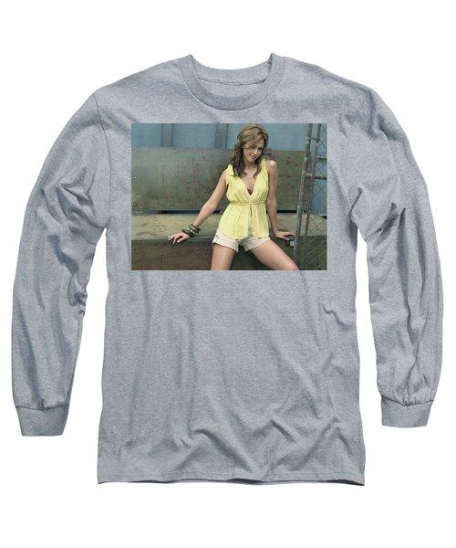 Jessica Alba Yellow Dress Long Sleeve T-Shirt