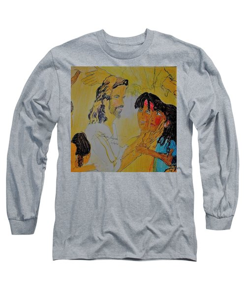 Jesus And The Children Long Sleeve T-Shirt