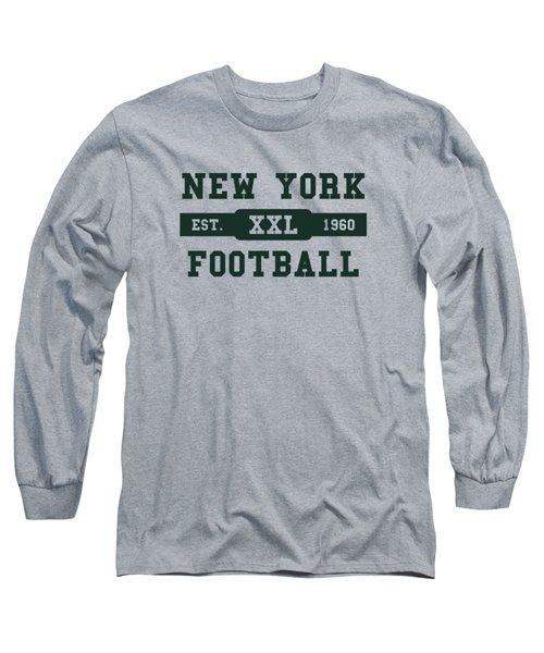 Jets Retro Shirt Long Sleeve T-Shirt by Joe Hamilton