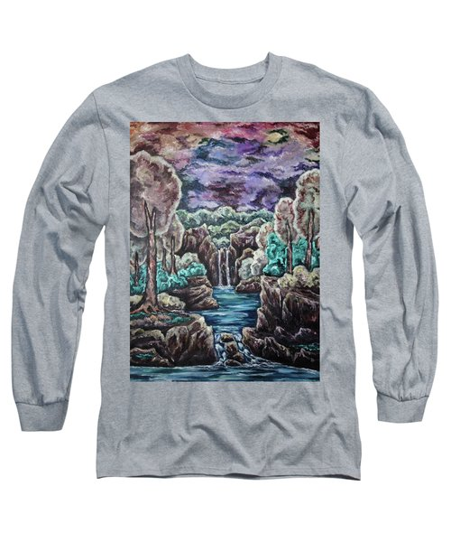 Long Sleeve T-Shirt featuring the painting Jewels Of The Valley by Cheryl Pettigrew