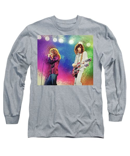 Jimmy Page - Robert Plant Long Sleeve T-Shirt