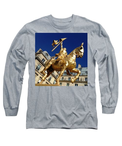 Long Sleeve T-Shirt featuring the photograph Joan Of Arc - Paris by Therese Alcorn
