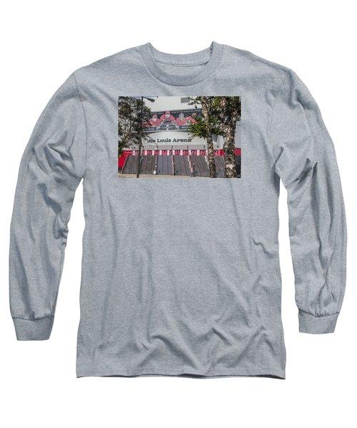 Joe Louis Arena And Trees Long Sleeve T-Shirt by John McGraw
