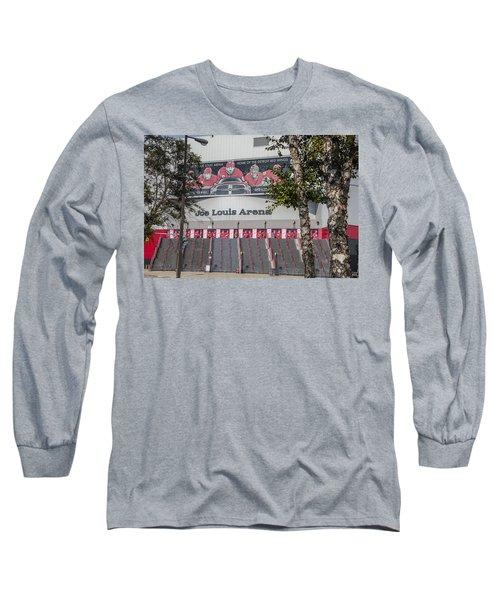 Joe Louis Arena And Trees Long Sleeve T-Shirt