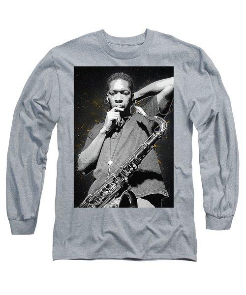 John Coltrane Long Sleeve T-Shirt by Semih Yurdabak