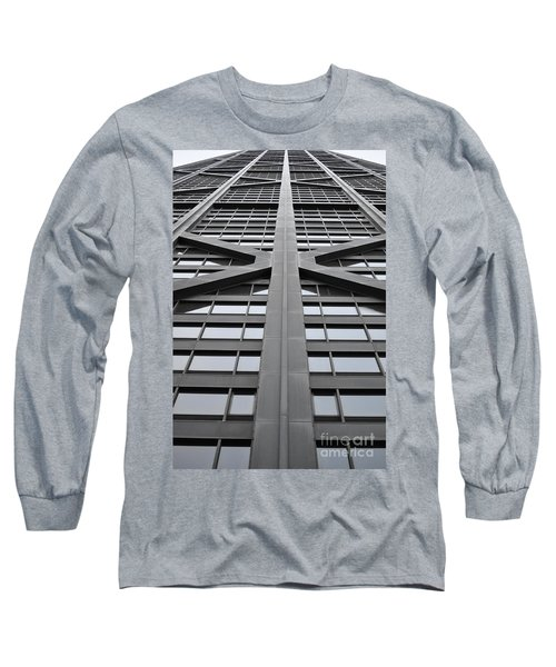 John Hancock Building Long Sleeve T-Shirt by Mary Machare