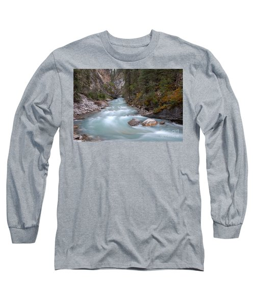 Long Sleeve T-Shirt featuring the photograph Johnston Canyon In Banff National Park by RicardMN Photography
