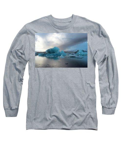 Long Sleeve T-Shirt featuring the photograph Jokulsarlon, The Glacier Lagoon, Iceland 4 by Dubi Roman