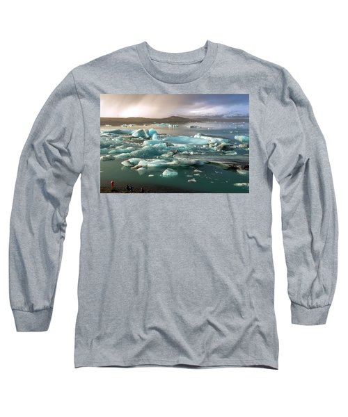 Long Sleeve T-Shirt featuring the photograph Jokulsarlon The Magnificent Glacier Lagoon, Iceland by Dubi Roman