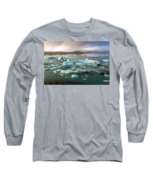 Jokulsarlon The Magnificent Glacier Lagoon, Iceland Long Sleeve T-Shirt