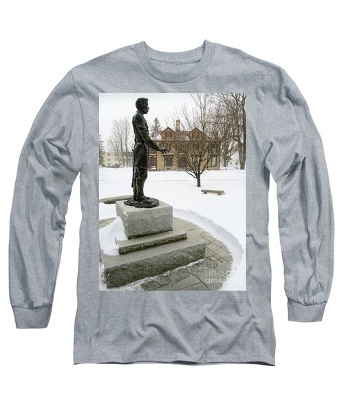 Joshua Lawrence Chamberlain Statue, Brunswick, Maine  -50415 Long Sleeve T-Shirt