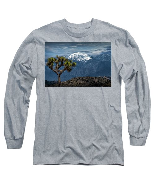 Long Sleeve T-Shirt featuring the photograph Joshua Tree At Keys View In Joshua Park National Park by Randall Nyhof