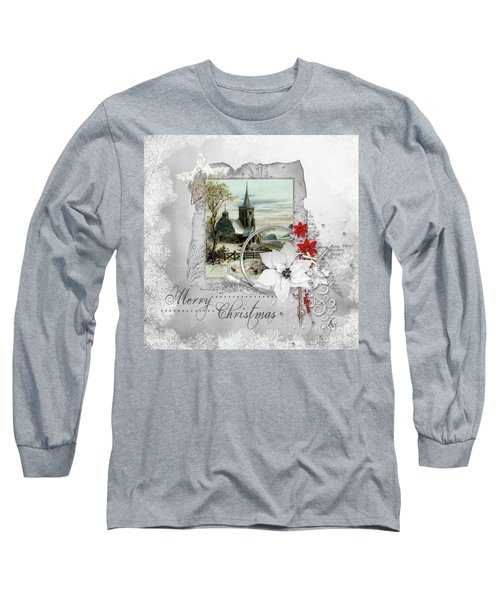 Long Sleeve T-Shirt featuring the digital art Joy To The World by Mo T
