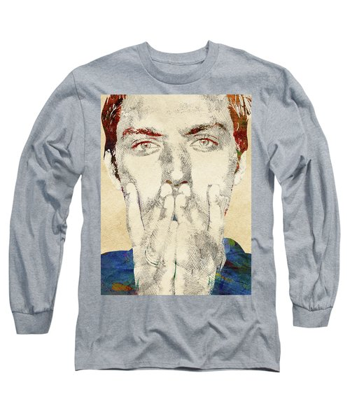 Jude Law Long Sleeve T-Shirt by Mihaela Pater