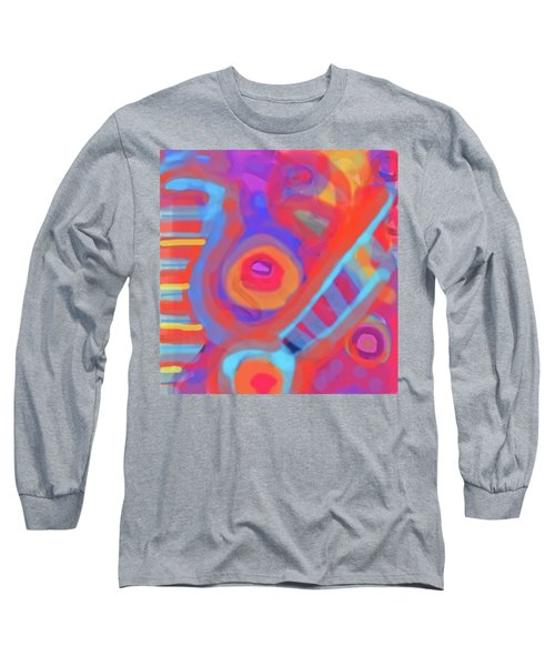 Long Sleeve T-Shirt featuring the painting Juicy Colored Abstract by Susan Stone