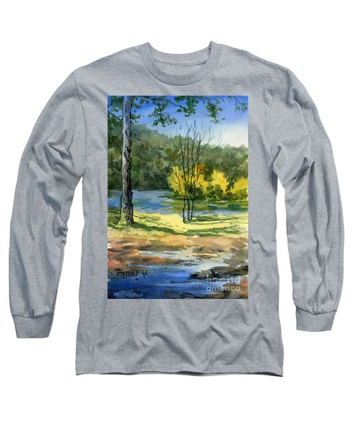 Junction Of White And Spring Rivers Long Sleeve T-Shirt