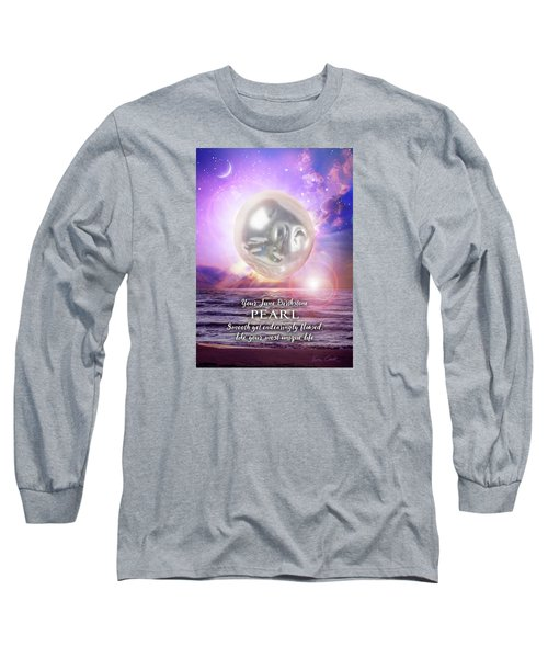 June Birthstone Pearl Long Sleeve T-Shirt